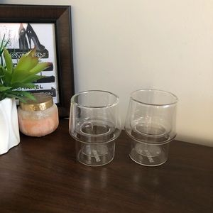 David's Tea Double Walled Glass Cups
